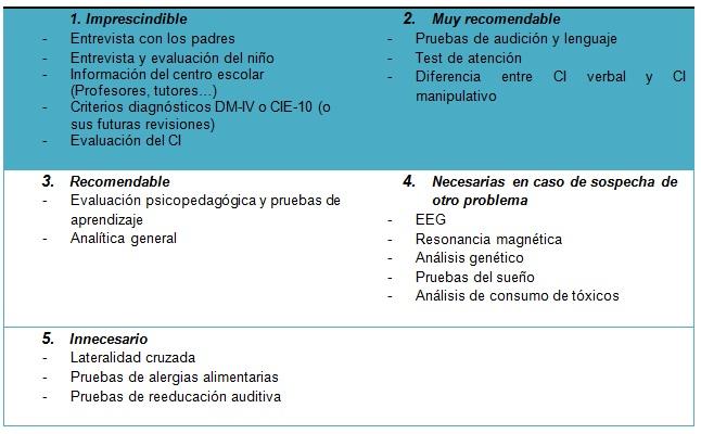 protocolo diagn u00f3stico para tda